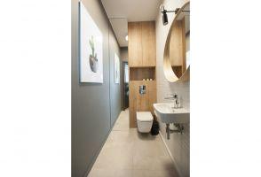 Toaleta dla gości. Projekt i zdjęcia: mia architekci