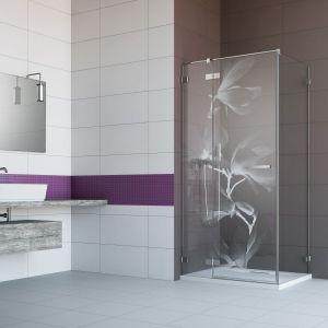Grawer laserowy na szkle w kabinie prysznicowej/Radaway. Produkt zgłoszony do konkursu Dobry Design 2020.