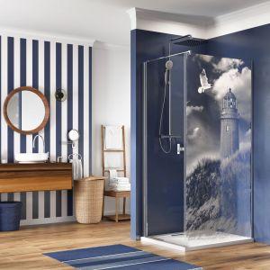 Grawer laserowy na szkle w kabinie prysznicowej/Radaway