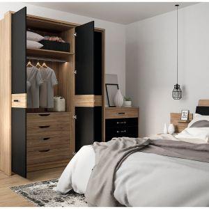Szafa do sypialni z kolekcji Monaco dostępna w ofercie firmy Meble Wójcik. Fot. Meble Wójcik