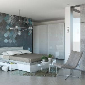 Meble do sypialni z kolekcji Galaverna dostępne w sieci Salonów Agata. Fot. Salony Agata