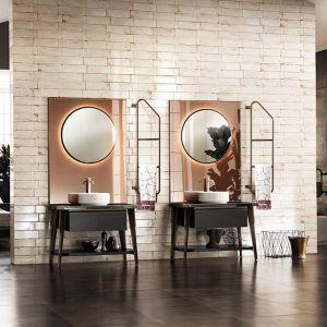 Meble i lustra łazienkowe stworzone dla Diesel Open Workshop od Scavolini. Fot. Scavolini