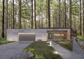 Moody-Woody House jest swoistym azylem dla 4-osobowej rodziny, stworzonym w zgodzie z koncepcją biophilic design – projektowania z miłości do natury. Projekt i wizualizacje: 3DPROJEKT architektura