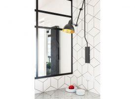 Industrialne lampy dopełniają całości. Projekt i zdjęcia: Deer Design