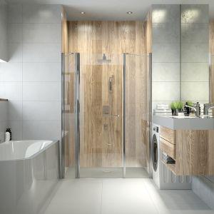 Wanna przyścienna WAP/LUXO i prysznic we wnęce. Fot. Sanplast