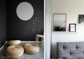 W zależności od potrzeb najemcy pokój pełnić może funkcję dodatkowej sypialni lub gabinetu. Projekt: MAKA Studio.
