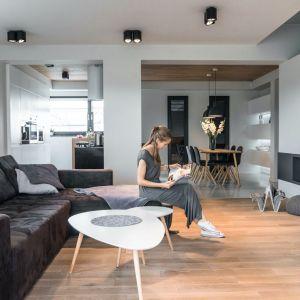 Kominek w salonie. Projekt i zdjęcia: Dorota Traczewska, Traczewska Design Interior Outfit