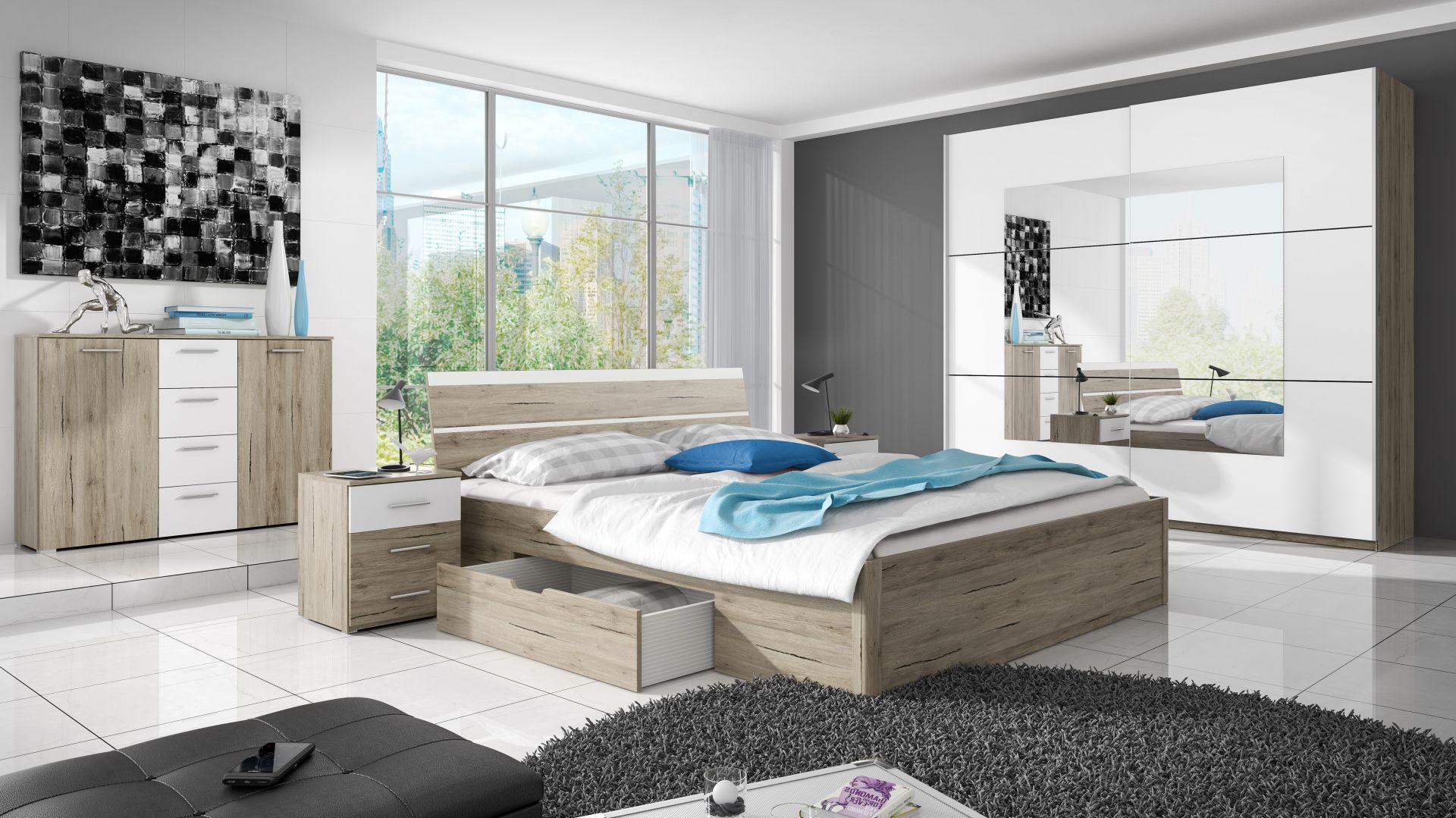 Szafa do sypialni z kolekcji Beta dostępne w ofercie firmy Helvetia Wieruszów. Fot. Helvetia