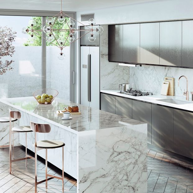 Modna kuchnia: przegląd materiałów na blaty i fronty