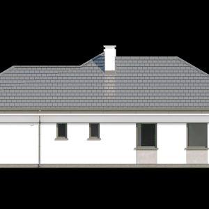 Widok elewacji. Dom Willa parterowa 2. Projekt: arch. Michał Gąsiorowski. Fot. MG Projekt