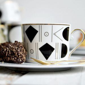 Piękne porcelanowe filiżanki: kolekcja Jenny Art Deco. Fot. Polska Grupa Porcelanowa/Ćmielów