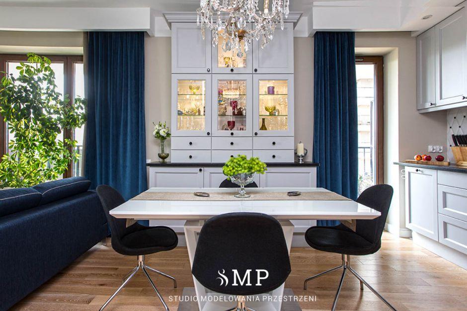 Mieszkanie architekta - modern classic z nutką niebieskiego