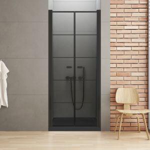 Nowoczesna łazienka - drzwi New Soleo Black. Fot. New Trendy