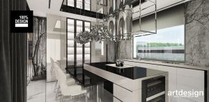 Projekt kuchni. Projekt i wizualizacje: ARTDESIGN biuro projektowe