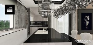 Funkcjonalna i elegancka kuchnia. Projekt i wizualizacje: ARTDESIGN biuro projektowe