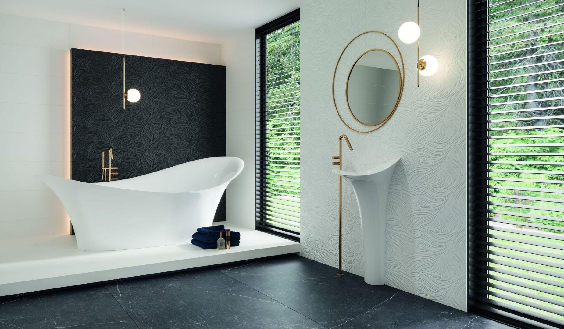 Płytki ceramiczne do łazienki, kolekcja Elegant Surface. Fot. Ceramika Paradyż