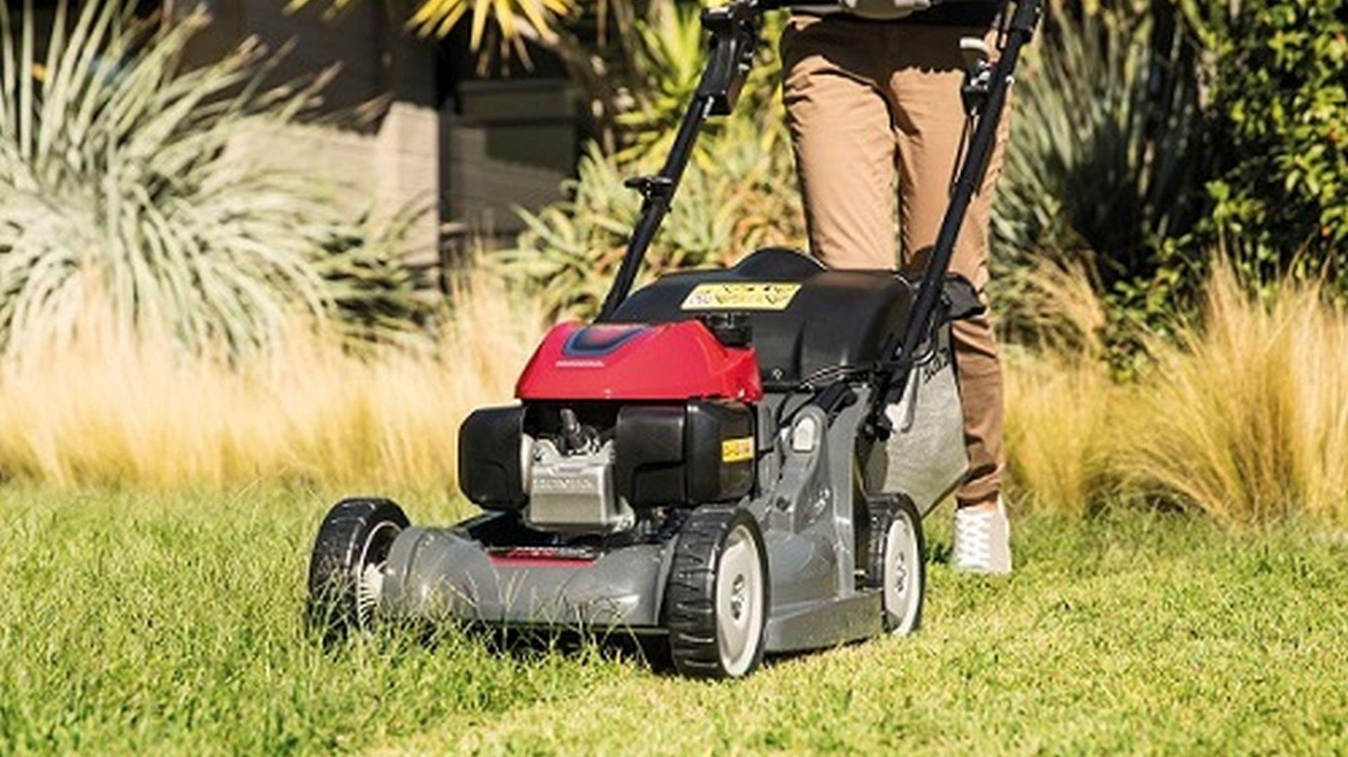 Zakładanie trawnika jesienią. Kosiarka Honda HRX 476 C2 VKE. Fot. Honda