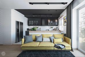 Inwestorzy - młoda para z Warszawy, od początku wiedzieli, jak ma wyglądać ich pierwsze wspólne mieszkanie. Projekt i wizualizacje: Magdalena Miszczyk-Tatara.