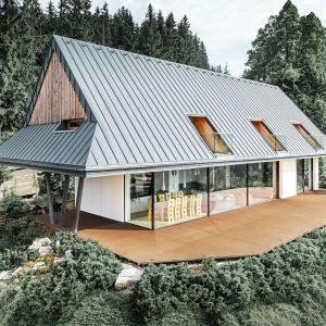 Dom w Tatrach (Zakopane) projektu Zakopiańskiej pracowni Karpiel-Steindel. Fot. Prefa