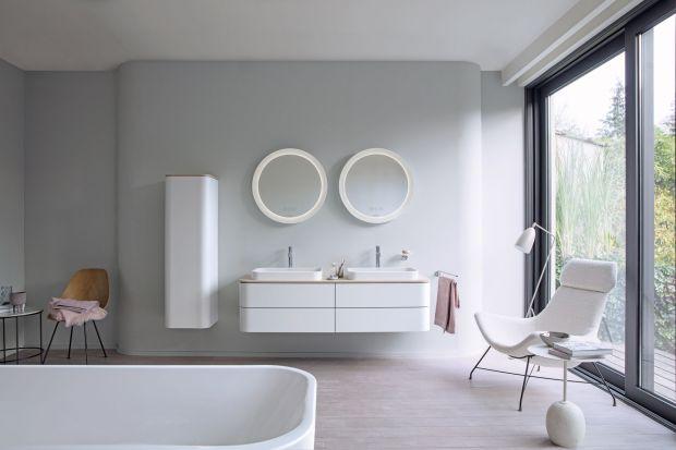 W skład serii wchodzą umywalki nablatowe, z pasującymi konsolami i dopasowanymi półwysokimi szafkami oraz okrągłymi lustrami, tworzą idealnie zharmonizowane przestrzenie łazienkowe oraz miski toaletowe, bidety i wanna. Produkt zgłoszony do konku
