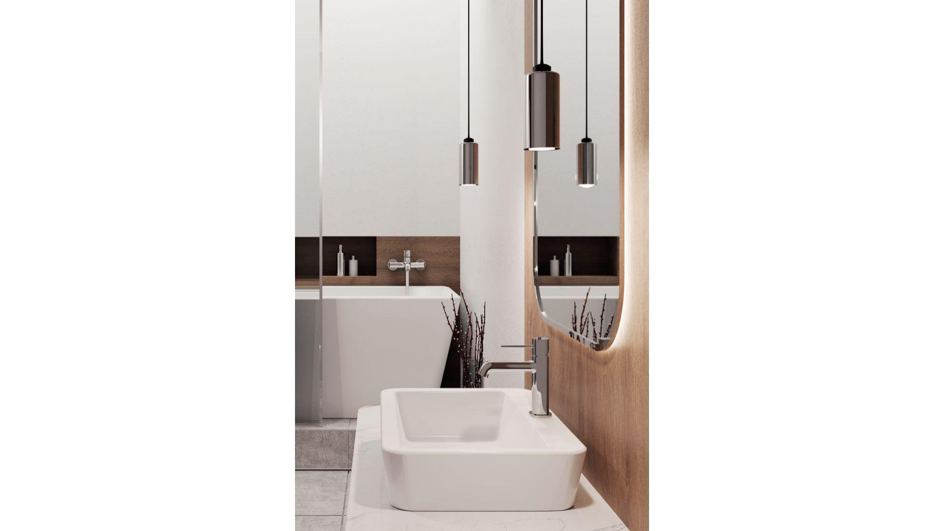 Seria armatury łazienkowej Polla/Laveo. Produkt zgłoszony do konkursu Dobry Design 2020.