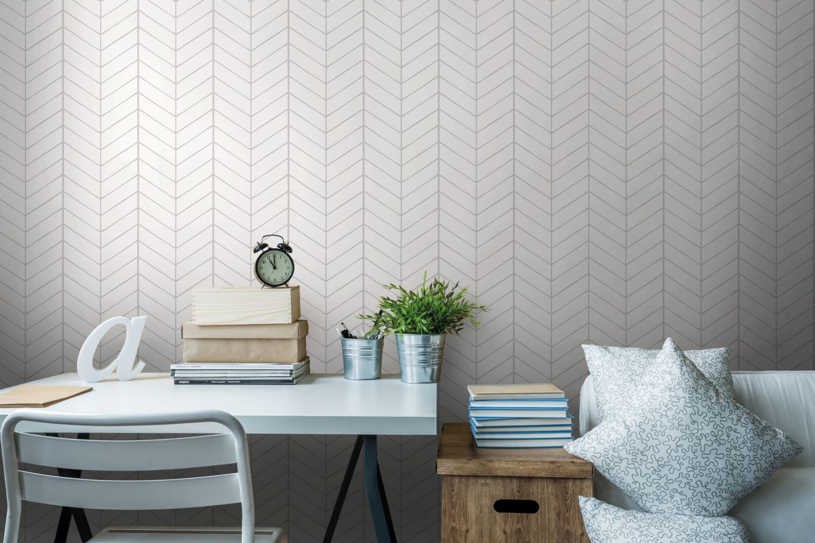 Panele dekoracyjne Motivo: White Herringbone. Fot. Vilo