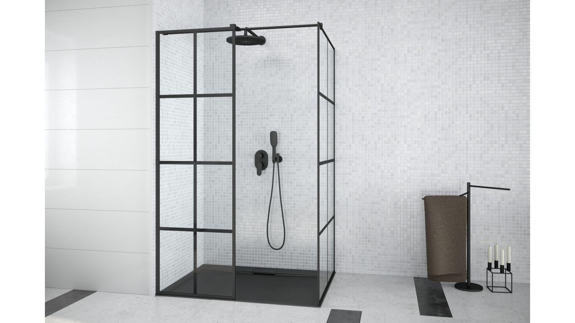 Excea kabina walk in/Besco. Produkt zgłoszony do konkursu Dobry Design 2020.
