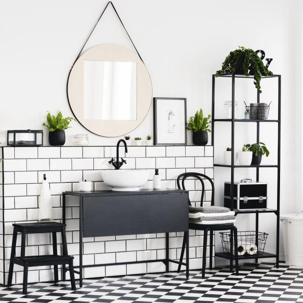 Czerń w łazience – odważna aranżacja lub... elegancki detal