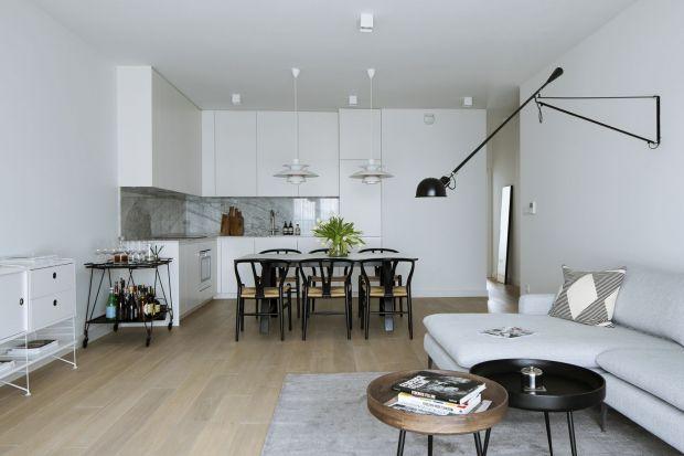 Nowoczesne, minimalistyczne wnętrze - z industrialną nutą