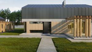 Projekt domu jednorodzinnego z garażem.