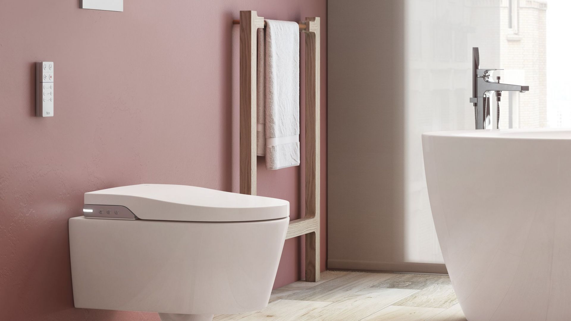 In-Wash® Inspira to intuicyjna toaleta myjącą; miska w.c. w technologii Rimless. Fot. Roca