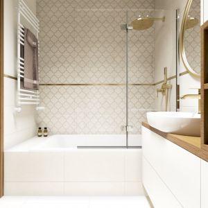 Piękne, przytulne mieszkanie: łazienka. Projekt: Marta Ogrodowczyk, Marta Piórkowska. Wizualizacja: Elżbieta Paćkowska
