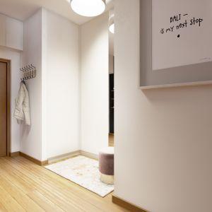 Piękne, przytulne mieszkanie: przedpokój. Projekt: Marta Ogrodowczyk, Marta Piórkowska. Wizualizacja: Elżbieta Paćkowska