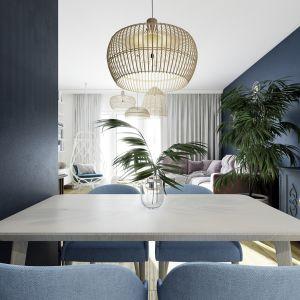 Piękne, przytulne mieszkanie: jadalnia. Projekt: Marta Ogrodowczyk, Marta Piórkowska. Wizualizacja: Elżbieta Paćkowska