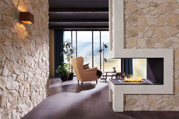 Kominek w salonie - 4 pomysły na aranżację z kamieniem dekoracyjnym