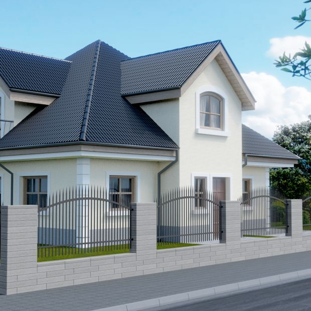 Ogrodzenie domu - efektowny i solidny beton