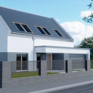 Ogrodzenie z wielkoformatowych betonowych pustaków Neo. Fot. Polbruk