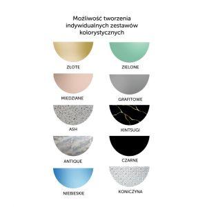 Kolekcja Fusion - seria oryginalnych luster z kolorowymi elementami/GieraDesign. Produkt zgłoszony do konkursu Dobry Design 2020.