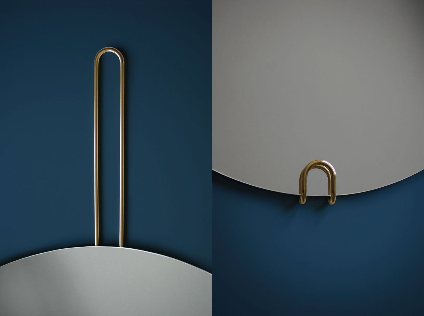 Kolekcja Hoko – minimalistyczne lustra z mosiężnym uchwytem/GieraDesign. Produkt zgłoszony do konkursu Dobry Design 2020.