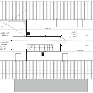 Rzut poddasza. Dom Wymarzony 5. Projekt arch. Michał Gąsiorowski. Fot. MG Projekt