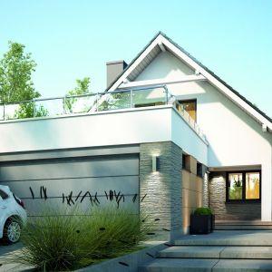 Dom z garażem. Projekt: Morgan. Fot. Dobre Domy