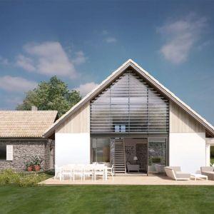 Dom z garażem. Projekt: N11. Fot. S&O Projekty Sylwii Strzeleckiej