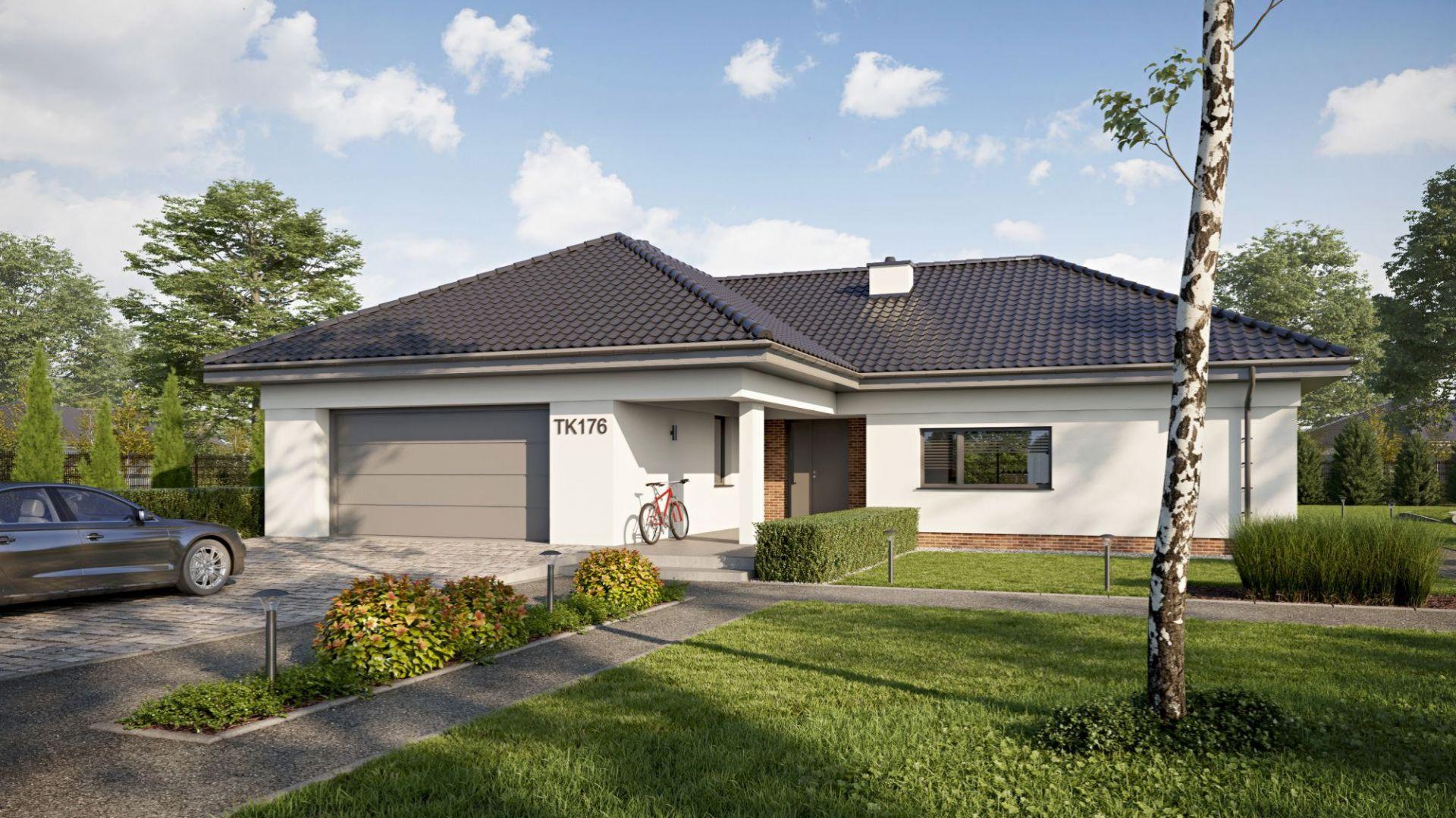 Dom z garażem. Projekt: Dom TK 176. Fot. Architeka