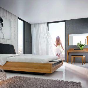 Łóżko tapicerowane z kolekcji Maganda dostępne w ofercie firmy Mebin. Fot. Mebin