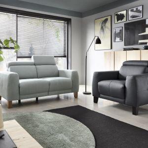 Szara sofa do salonu z kolekcji Jacob dostępna w ofercie firmy Etap Sofa. Fot. Etap Sofa