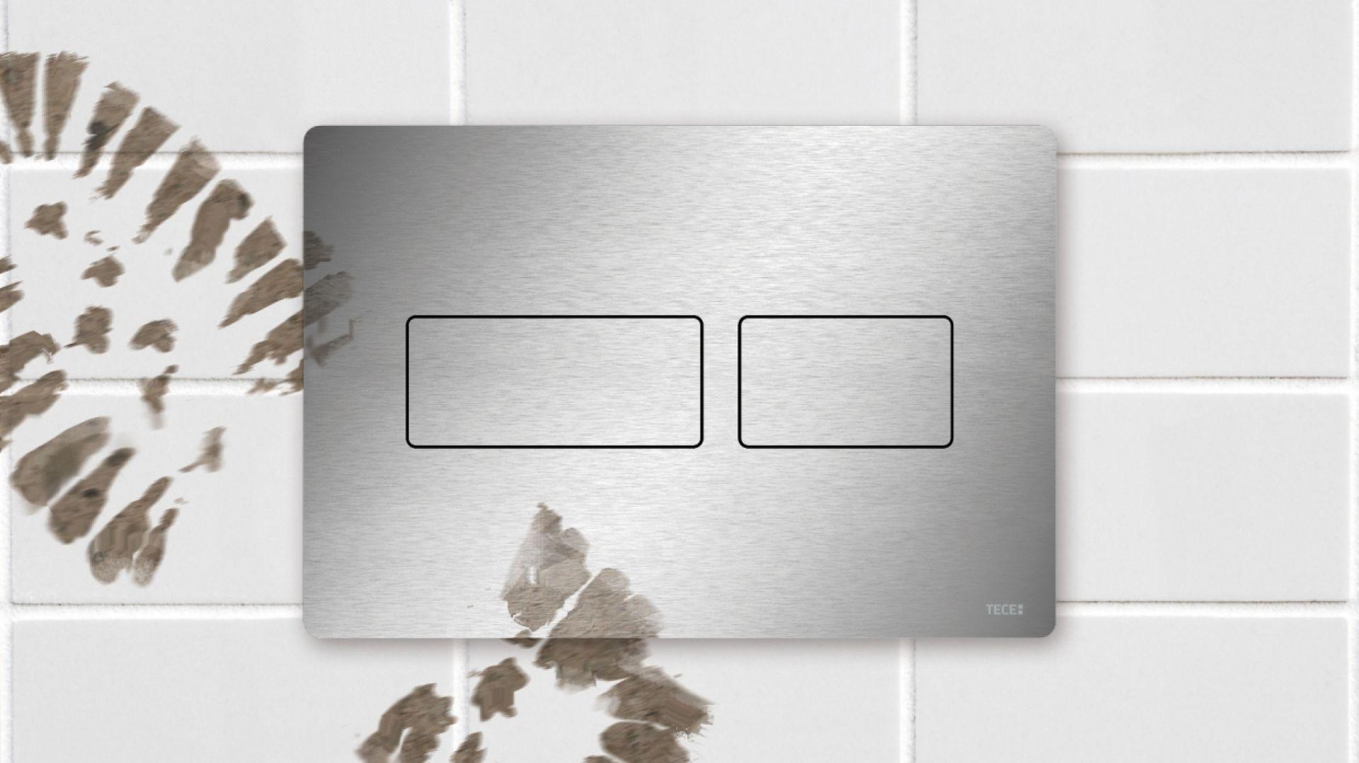 Design & trwałość – nowa seria przycisków spłukujących dostępnych w ofercie firmy Tece. Fot. Tece
