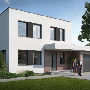 Dom typu L – technologia Buszrem – ściany prefabrykowane z betonu keramzytowego. Fot. Buszrem