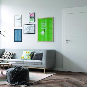 Biały kolor powierzchni drzwi dodatkowo powiększa optycznie mieszkanie, to zatem propozycja dla tych, którzy mają mały metraż. Na zdjęciu drzwi z kolekcji Porta Vector Premium E. Cena: 601 zł.  Dostępne w ofercie firmy Porta KMI Poland. Fot. Porta KMI Poland