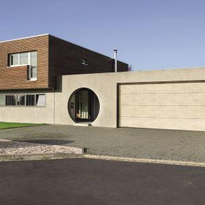 Brama garażowa LPU 42 z nową powierzchnią Duragrain/Hörmann