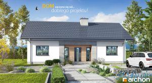 """Projekt """"Dom w kostrzewach 4"""" to idealne rozwiązanie dla osób poszukujących niewielkiego, ekonomicznego domu parterowego. Prosta bryła oraz dwuspadowy dach to atuty projektu, zapewniające niskie koszty budowy oraz sprawny przebieg realizacji, a s"""